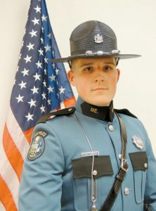 TYLER HARRINGTON OF RICHMOND, a 2012 graduate from Richmond High School who graduated this year from Thomas College, was one of eight new Maine State Troopers who took an oath of office recently. Harrington is assigned to Troop D in Augusta.