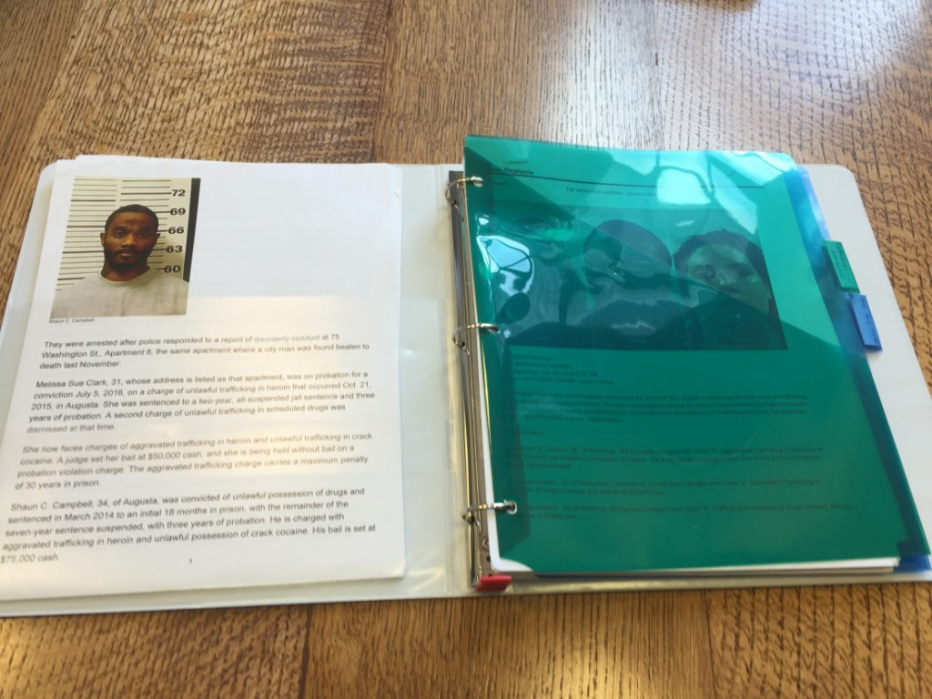 Gov. LePage's binder of accused drug dealers