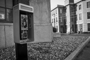 A PUBLIC INTEREST PAYPHONE was installed in Biddeford last week, with the goal of improving communication for those those who do not have cell phones.