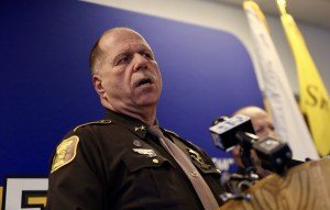 Cumberland County Sheriff Kevin Joyce addresses the media about shootings in Casco and Naples.