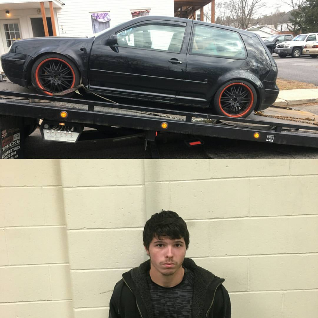 Sean-Michael Grenier, 23, of Sanford remained at York County Jail this morning after allegedly leading Maine State Police and Sanford police on a chase through residential streets Sunday morning. Photo courtesy of Maine State Police