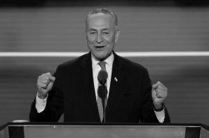 SEN. CHUCK SCHUMER, D-NY., speaks during the second day of the Democratic National Convention in Philadelphia in July. Senate Democrats are turning to Schumer, a Brooklyn-bred partisan infighter with a pragmatic streak, to steer them into the Donald Trump era. Senate Democrats and Republicans are meeting separately today to pick their leaders for the Congress that convenes in January 2017.