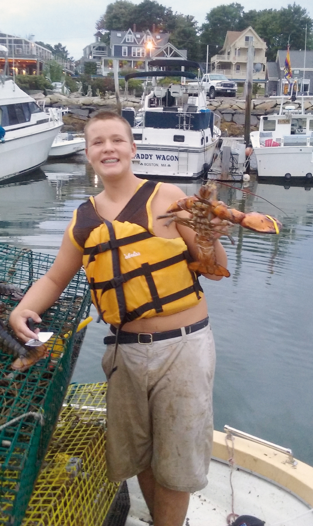 Charlie Spinney of Kennebunk, 14, just spent his first summer lobstering and said he enjoyed the experience. Submitted photo