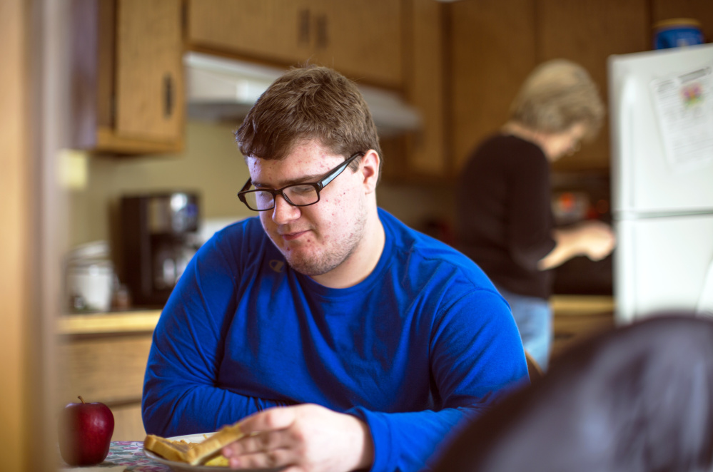Ryan Dufour, 18, who is diagnosed with autism spectrum disorder, was cut off from services as soon as he graduated from high school in June. Now living with family members in Durham and Freeport, he is on a long waiting list for community-based services, while trends in Maine make those services tougher to find. AT TOP: The last resident leaves the Pineland Center in April 1996, when the New Gloucester facility closed its doors for good.