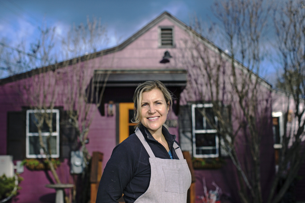 Krista Kern Desjarlais outside The Purple House in North Yarmouth. She was nominated for a James Beard Award in the Best Chef: Northeast category