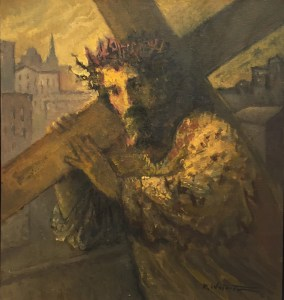 """Michael Waterman, """"Carrying the Cross,"""" oil on canvas."""