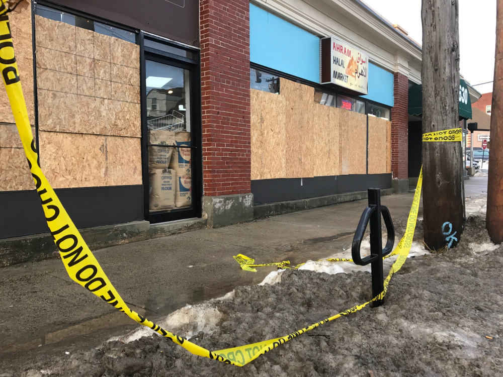 Six windows at Ahram Halal Market on Forest Avenue were smashed with a baseball bat on Christmas Eve.