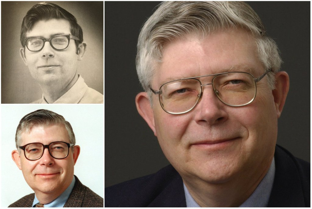 M.D. Harmon worked for the Portland newspapers for 41 years before retiring in 2011. Harmon, shown at top left in 1972 when he was named city editor, continued to write an opinion column for Portland Press Herald until the time of his death Wednesday in a shooting at his home. Bottom left is Harmon in 1999. The photo at right was taken in 2004.