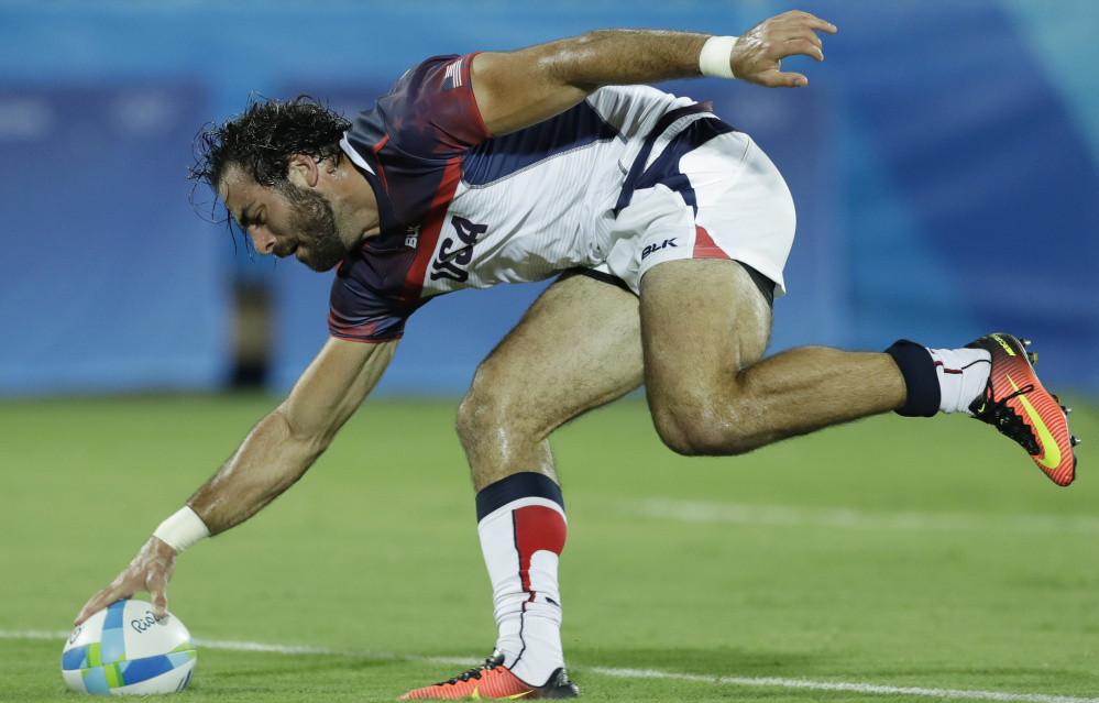 """Nate Ebner played on the U.S. Olympic team in rugby and also will be in the Super Bowl. """"Both are very special, both mean the world to me."""""""