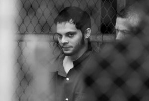 ESTEBAN SANTIAGO is taken from the Broward County main jail as he is transported to the federal courthouse in Fort Lauderdale, Florida, on Monday. Santiago is accused of fatally shooting several people at a crowded Florida airport baggage claim and faces airport violence and firearms charges that could mean the death penalty if he's convicted.