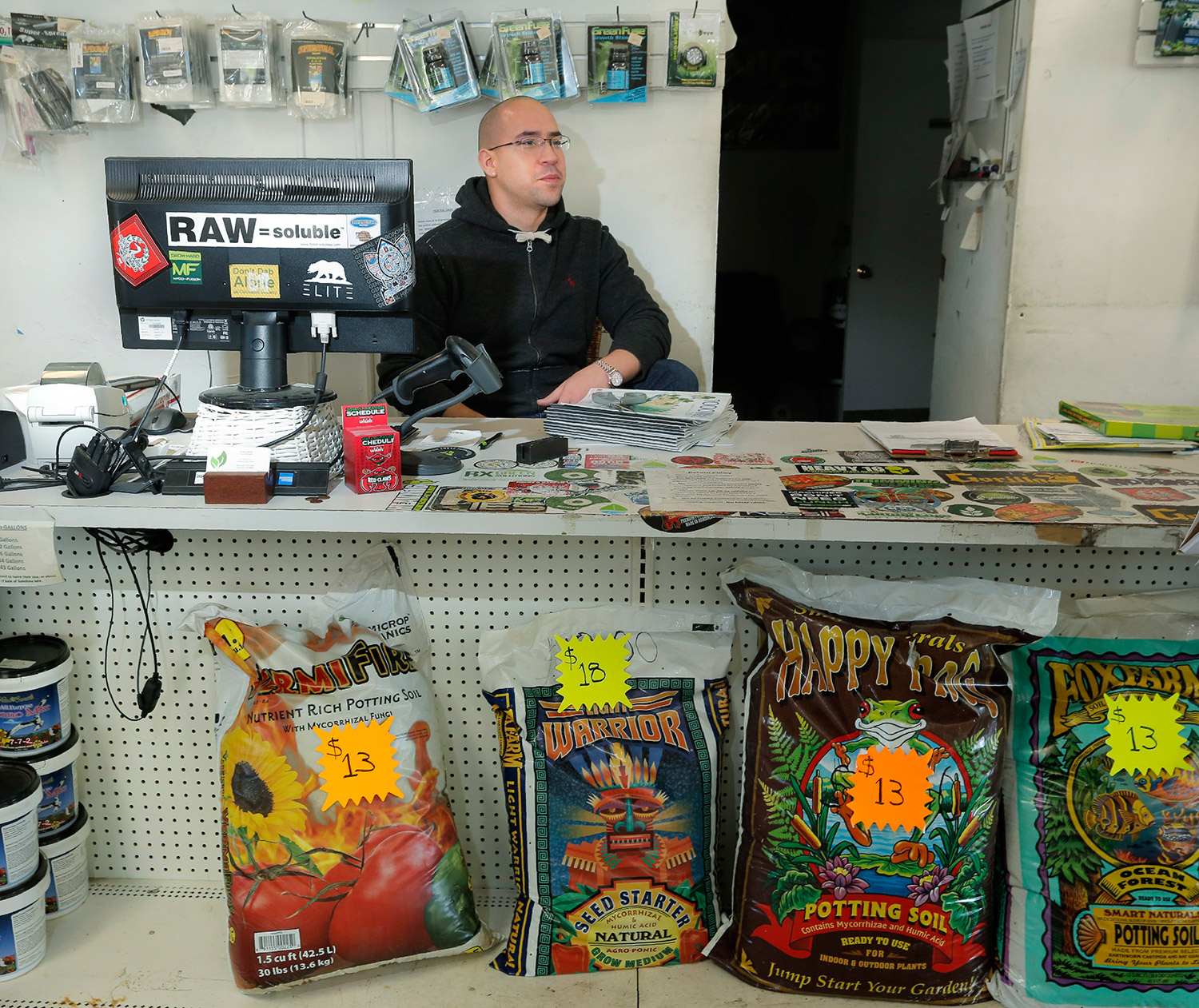 """""""Today has been really exciting,"""" said Erick Garcia, store manager of Grow Life, an indoor gardening store on Forest Avenue. """"We've had a lot of new faces coming in the store."""""""