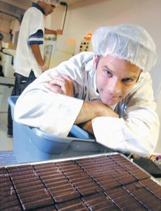 DAGOBA CHOCOLATE founder Frederick Schilling in 2005. Today, the 45 year old is a partner and co-CEO in a global organic coconut product firm, and he also is a partner in AMMA Chocolate, a Brazilian organic company.