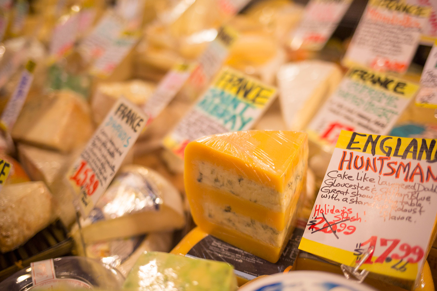Cheese is on sale at K. Horton Specialty Foods in downtown Portland as the owner prepares to close the shop.
