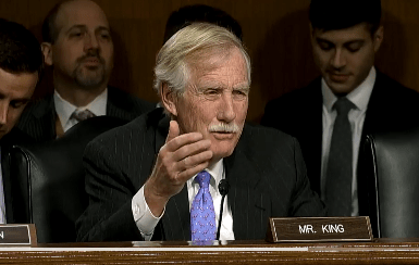 """Sen. Angus King said, """"The fact (that Russia) tried to penetrate state election systems, I believe, is very serious and something we need to take seriously before the next round of elections."""""""