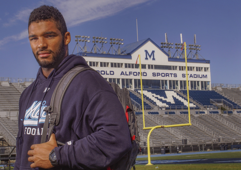 """By the end of his career at UMaine, Trevor Bates was a three-time all-Colonial Athletic Association selection, including first-team honors as a senior. """"I know right now he's doing everything (the Patriots) ask him to do and he's flying around. We're pretty excited for him,"""" said UMaine head coach Joe Harasymiak."""