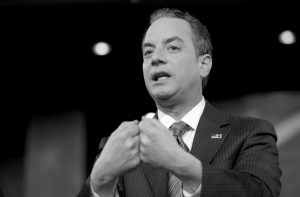 WHITE HOUSE CHIEF OF STAFF REINCE PRIEBUS speaks at the Conservative Political Action Conference (CPAC) in Oxon Hill, Maryland, Thursday.