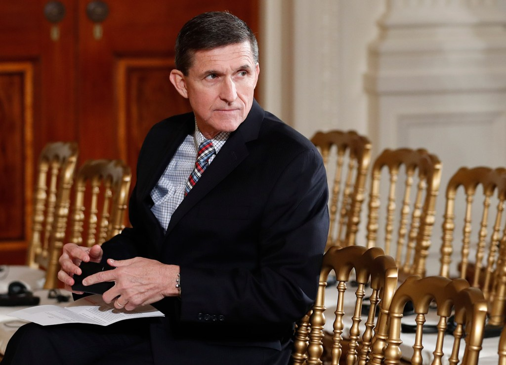 Michael Flynn, shown at a White House news conference on Feb. 10, had access to classified information and took part in the president's discussions with world leaders until he was fired as national security adviser.
