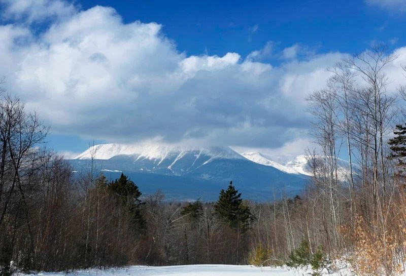 """Clouds hide the summit of Mount Katahdin in Baxter State Park, as viewed from what is now the Katahdin Woods and Waters National Monument in Township 3, Range 8. Gov. Paul LePage has dismissed  the value of the national monument's land as """"cut over"""" woodlands."""
