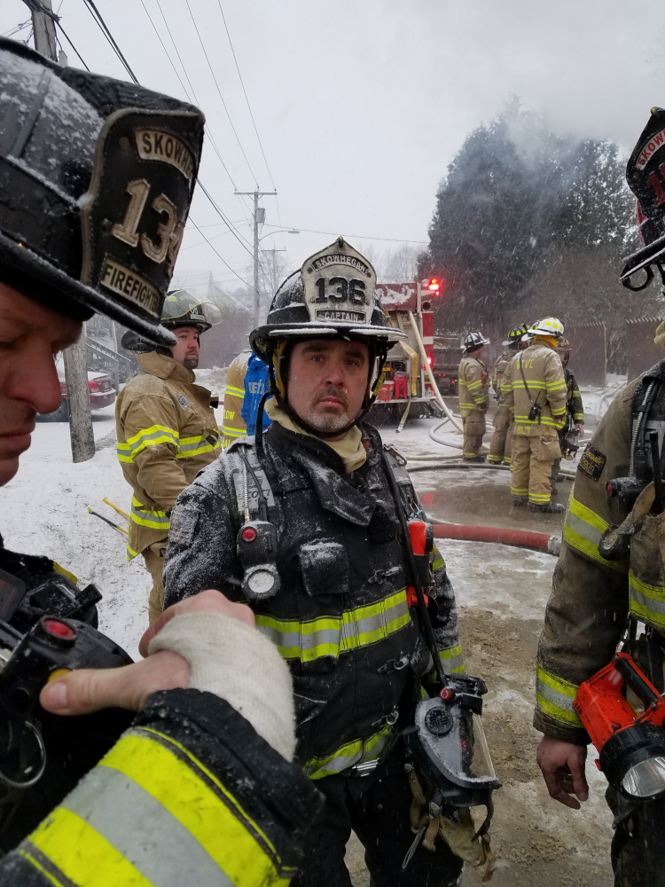 Skowhegan fire Capt. Mike Savage commanded the department's Rapid Intervention Team on Feb. 1 at an apartment house fire in Waterville, where a firefighter was rescued from fallen debris.