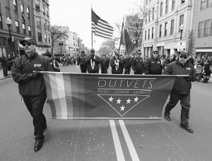 """GAY VETERANS who marched in Boston's 2015 St. Patrick's Day parade after decades of resistance from organizers say they have been denied a spot in this year's event. The veterans group, OutVets, said on their Facebook page that the reason for the denial is unclear, but """"one can only assume it's because we are LGBTQ."""" The South Boston Allied War Veterans Council, the parade's organizer, voted 9-4 Tuesday to keep the group out of the March 19 parade. Emails and phone messages seeking comment on the reasoning were not returned Wednesday. Ed Flynn, a member of the council, says he voted to allow OutVets to participate. The Navy veteran says he is """"saddened and outraged"""" that the council """"voted to turn back the clock on equality."""""""