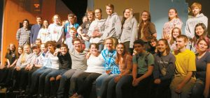 "THE CAST AND CREW OF ""RED RADIO,"" Morse High School's one act play to be performed at this year's One Act Festival."