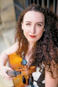 MUSICIAN SHANNON ROSS with her cello.