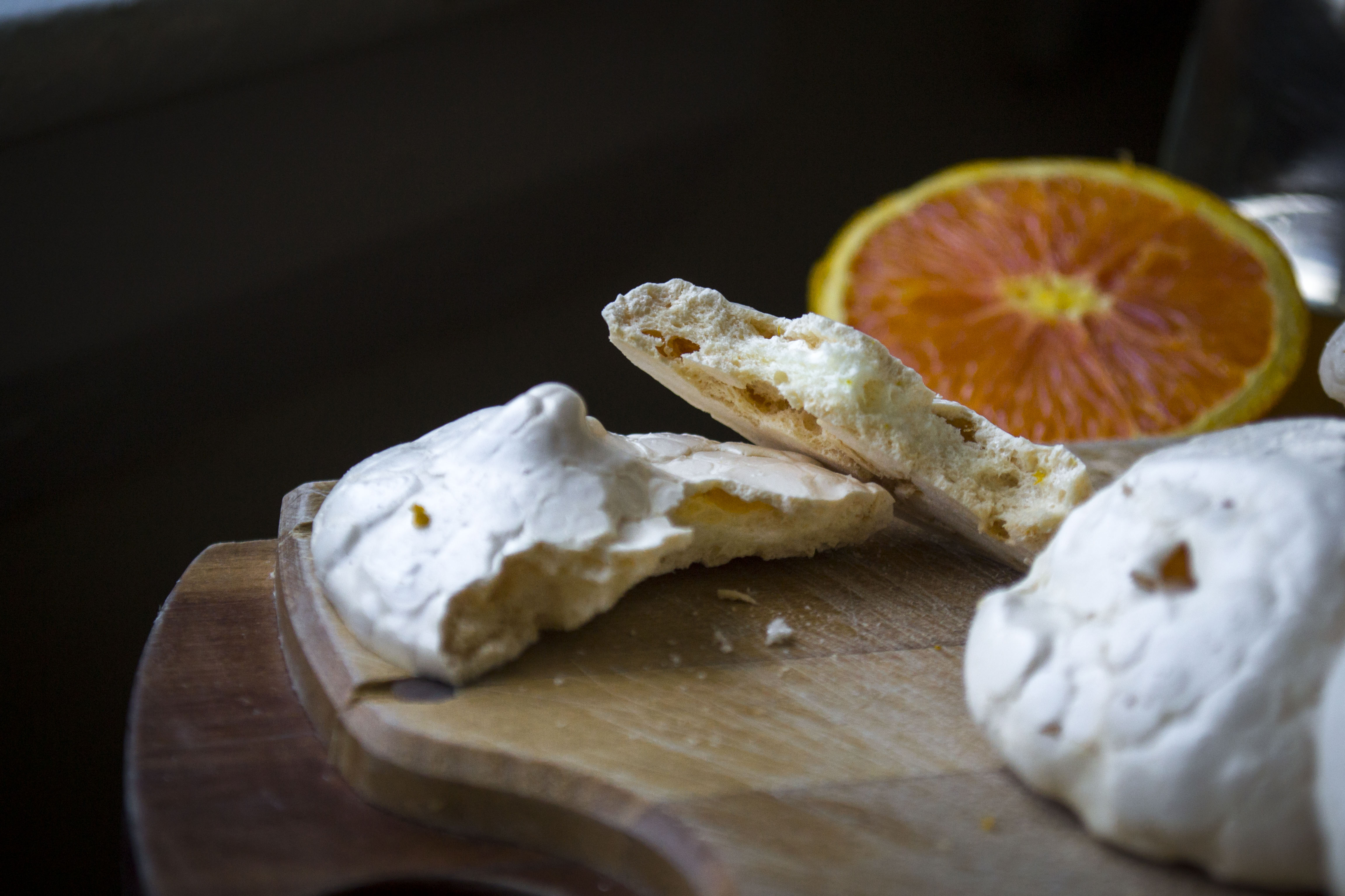 Crispy on the outside and chewy on the inside, these orange-scented meringues make a delicious and light springtime snack. ALAN BENNETT/Journal Tribune