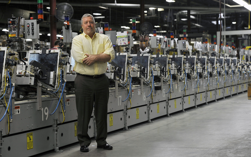 Eric Lane, president of The Dingley Press in Lisbon, says he's seeing new customers for printed catalogs, including online-only retailers that send catalogs in the mail to attract new customers.