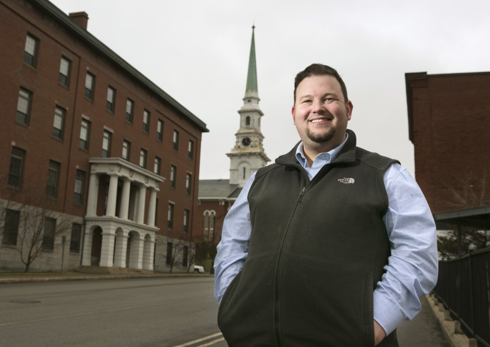 Matt McDonald, shown in downtown Bangor, was a supporter of Bernie Sanders in the 2016 presidential race but switched to supporting Donald Trump after Sanders lost to Hillary Clinton.