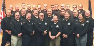 SHOWN ARE THE PARTICIPANTS in the Maine Fire Service Institute Officer Academy.