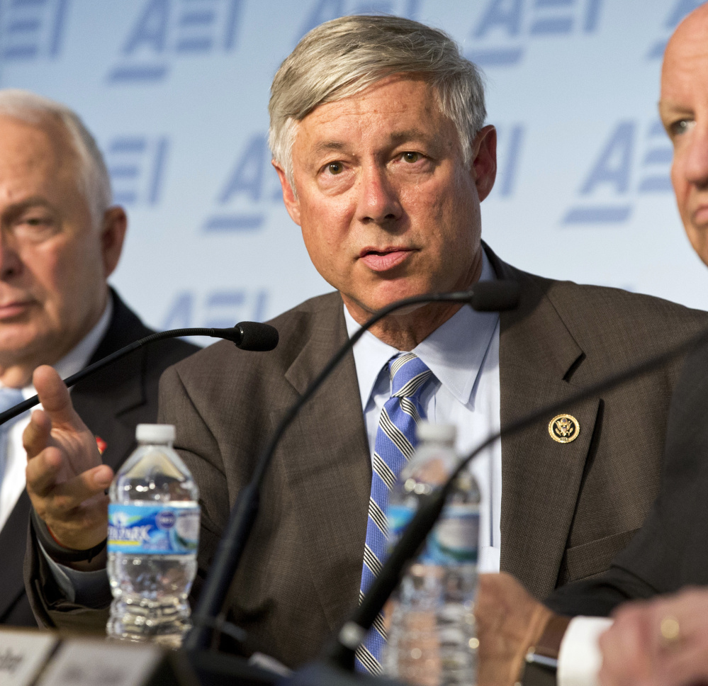 """Associated Press/Alex Brandon Rep. Fred Upton, R-Mich., who came out against his colleagues' plan to replace the Affordable Care Act, said it """"torpedoes"""" safeguards for people with pre-existing conditions."""