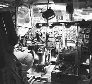 THE COCKPIT of the Vietnam-era C-123 Provider being restored and maintained at the Beaver County Airport was once occupied by Tom Cruise. The plane, the last of its kind still in flying condition, was used in the filming of a yet-to-be-released movie with Cruise at the controls.