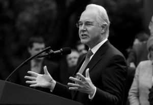 HEALTH AND HUMAN SERVICES SECRETARY TOM PRICE speaks in the Rose Garden of the White House in Washington Thursday, after the House pushed through a health care bill. Cutting nearly $1 trillion from Medicaid will give states the freedom to tailor the program to suit their needs, Price said Sunday, as he defended a narrowly passed House bill that aims to undo parts of the health care law enacted by the previous administration.