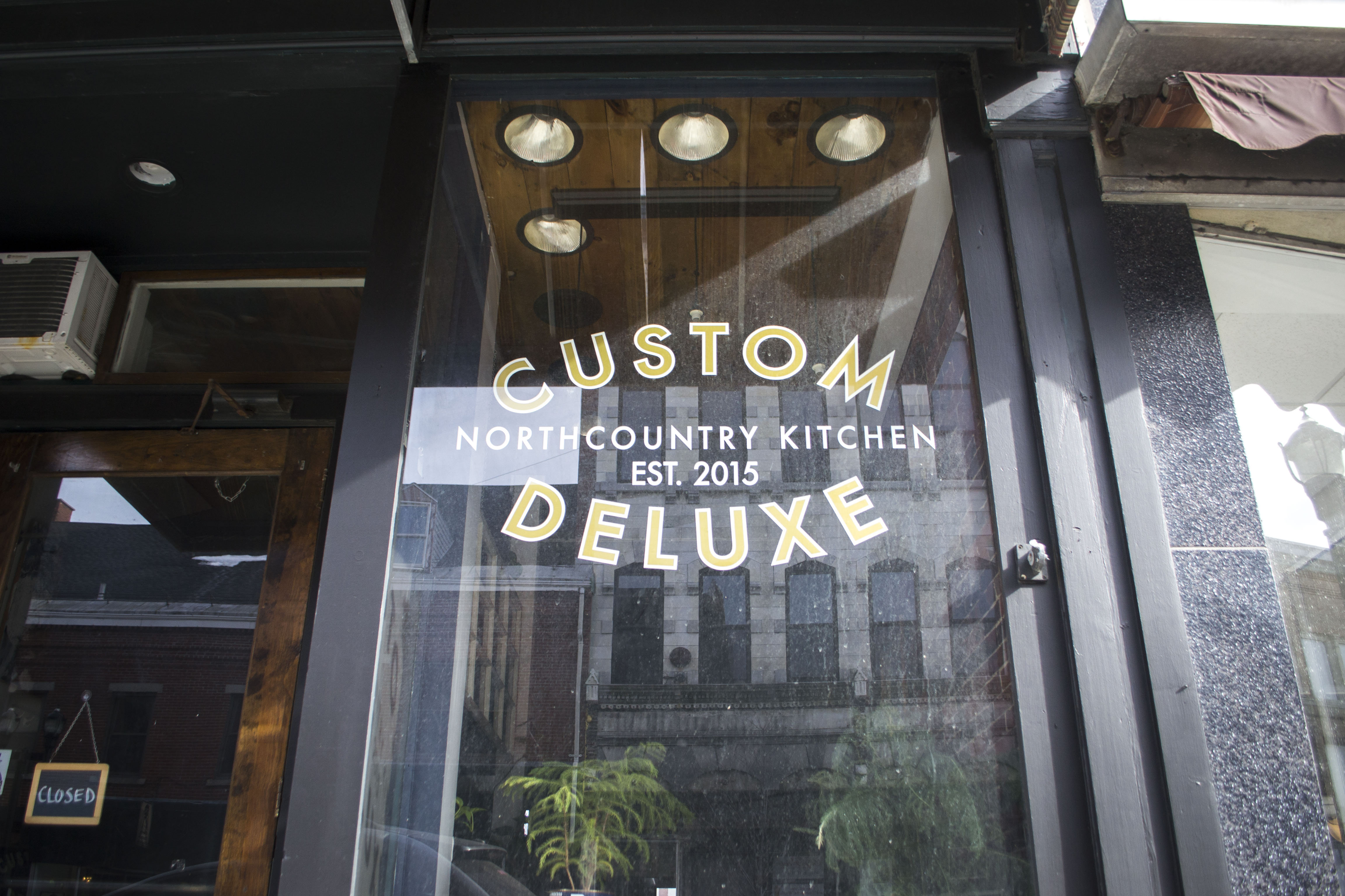 The facade of Custom Deluxe is pictured in February. A new bill in the 128th Legislature, with amendments from Rep. Ryan Fecteau, D-Biddeford, would restore the tip credit to Maine's tipped restaurant workers. JOURNAL TRIBUNE FILE PHOTO/ALAN BENNETT