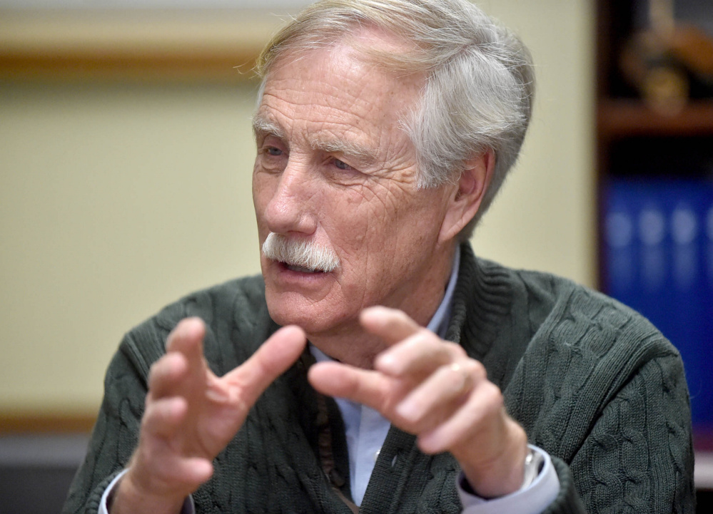 """Maine Sen. Angus King said Sunday that """"the Russians were trying to screw around with our elections and also state elections, which I find really scary."""""""