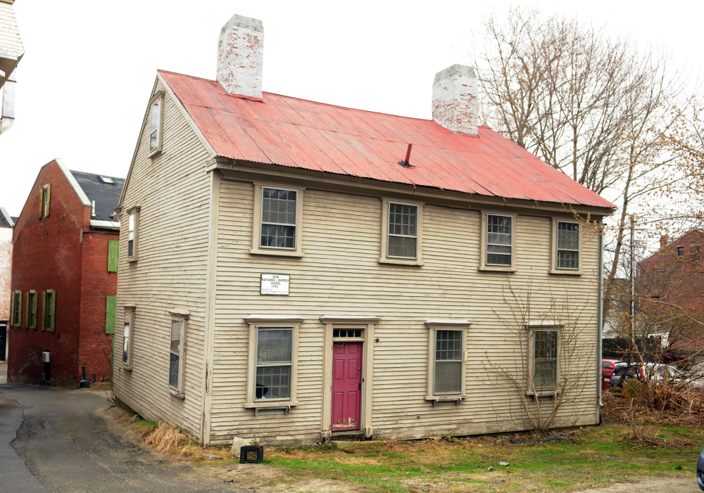 Hallowell's Dummer House, a historic structure that will be relocated to the corner of Central and Second streets, ideally before a Water Street reconstruction project in April 2018.