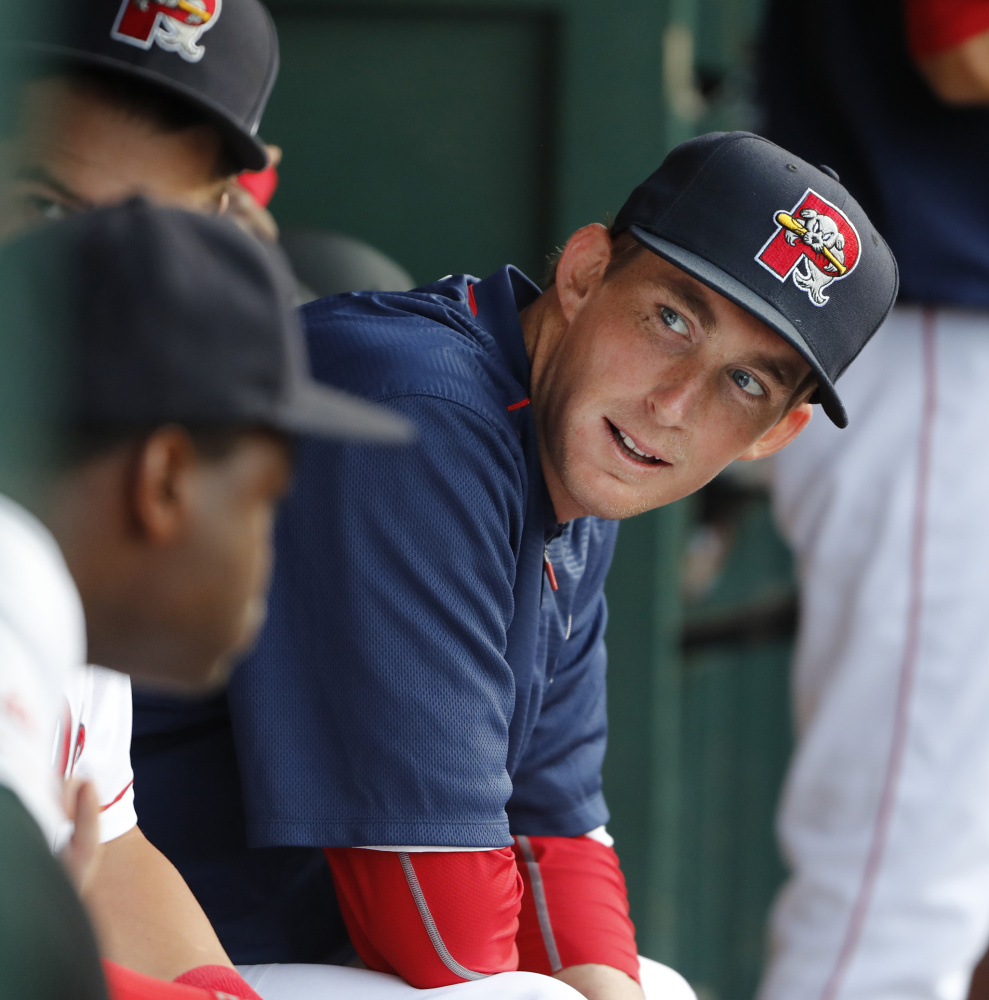 Henry Owens was back in the dugout at Hadlock Field on Monday night, three seasons after establishing himself as a prospect with the Sea Dogs.