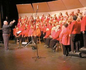"""STEVE WESTON DIRECTS the Midcoast Community Chorus. The chorus will present their annual spring concert, """"Lift Us Up,"""" on Saturday at 7 p.m. in Rockport."""