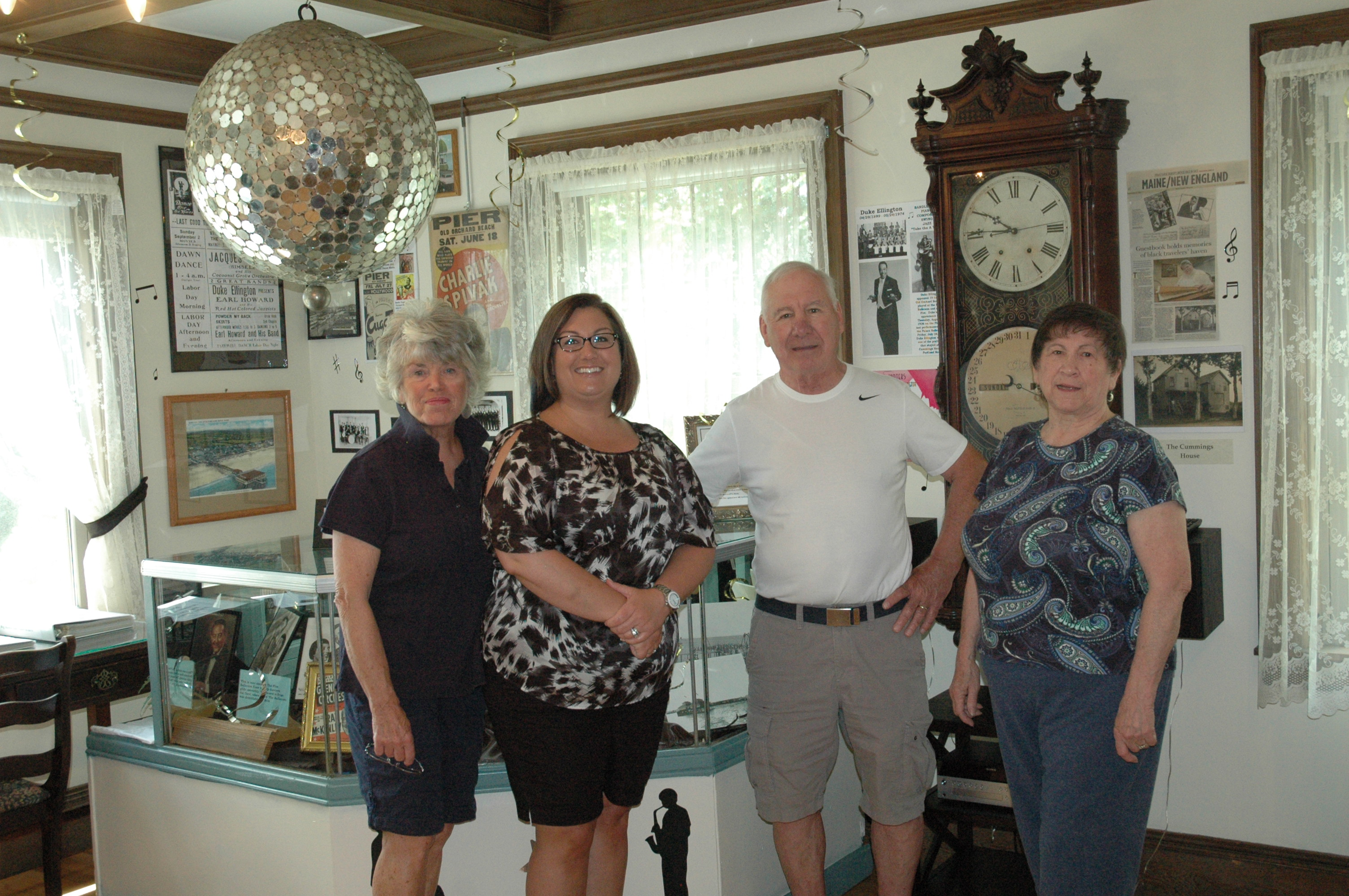 Harmon Museum volunteers Jaynie Flaherty and Audra Blaney Higgins, Town Historian Dan Blaney and Harmon Museum Curator Jeanne Guerin at the museum in Old Orchard Beach on Monday.LIZ GOTTHELF/Journal Tribune