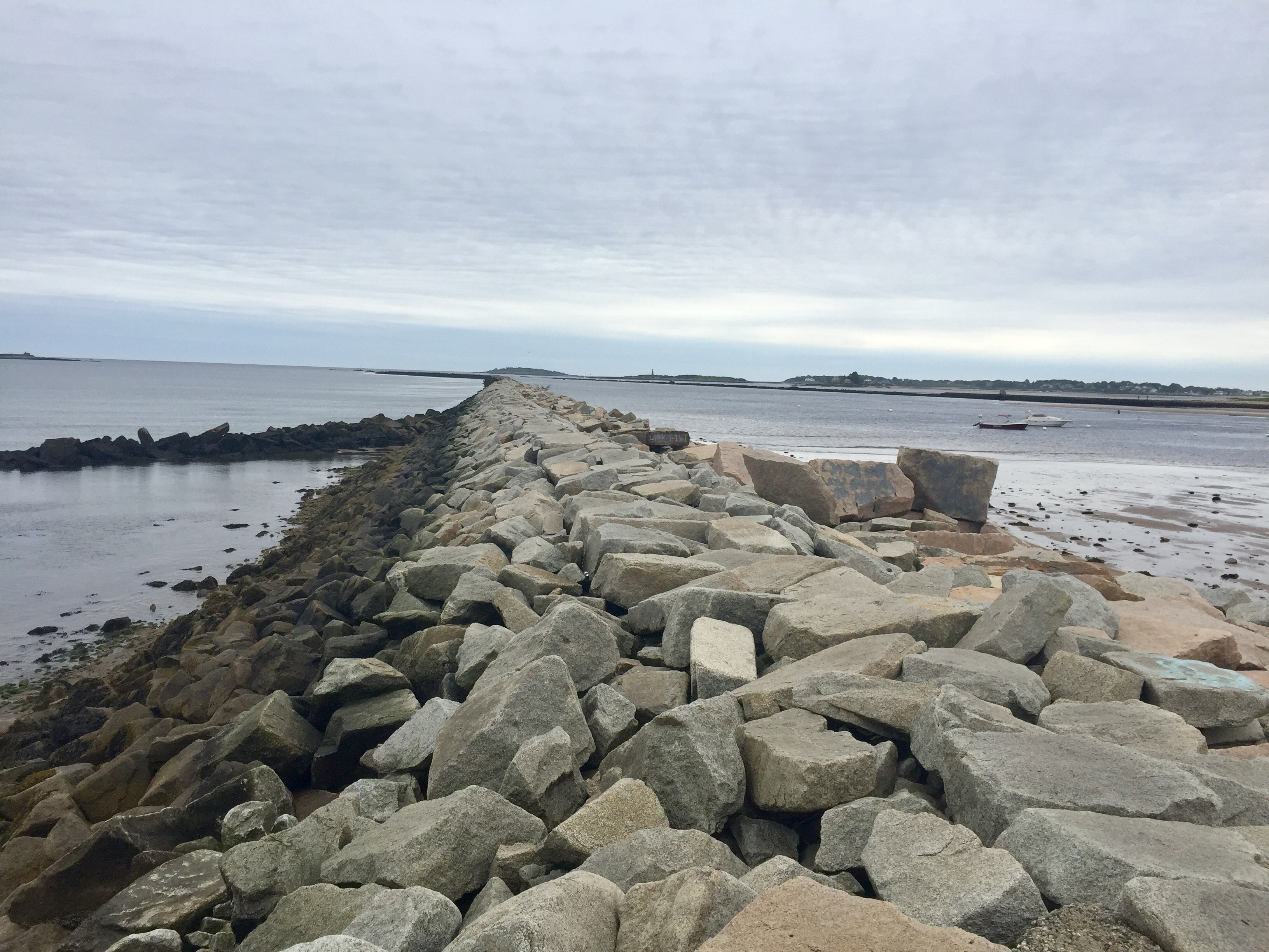 The Saco Jetty, as seen Friday morning. LIZ GOTTHELF/Journal Tribune