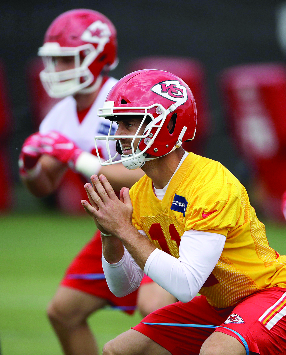 Kansas City Chiefs quarterback Alex Smith (11) participates in a drill during NFL football minicamp on Tuesday in Kansas City, Mo. AP NEWSWIRE