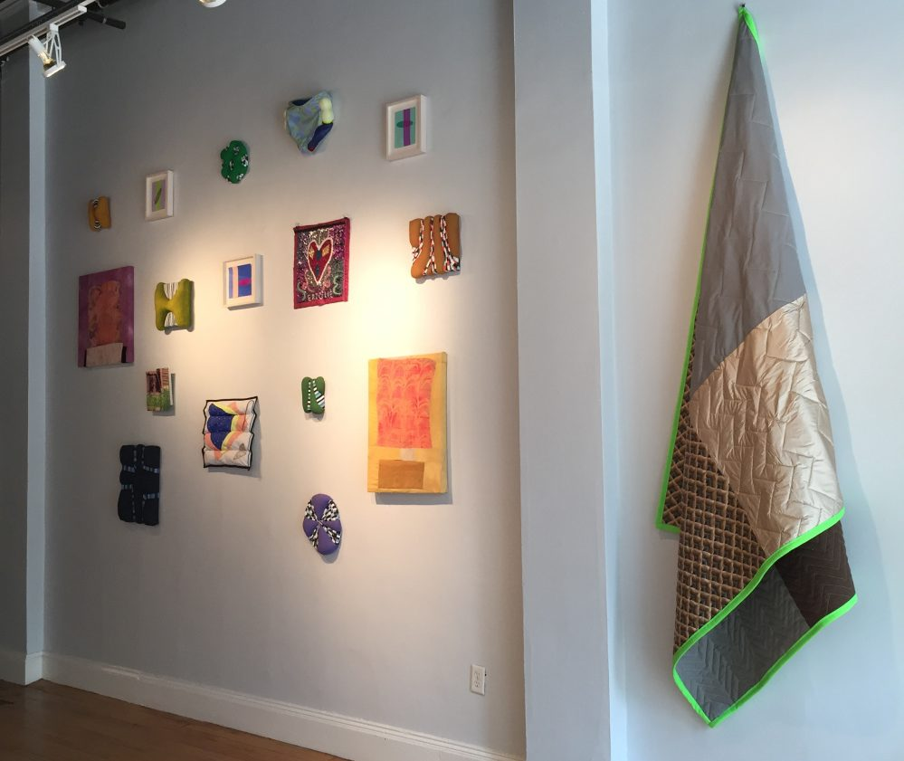 """A grouping in """"Selvedge"""" at Able Baker Contemporary in Portand."""