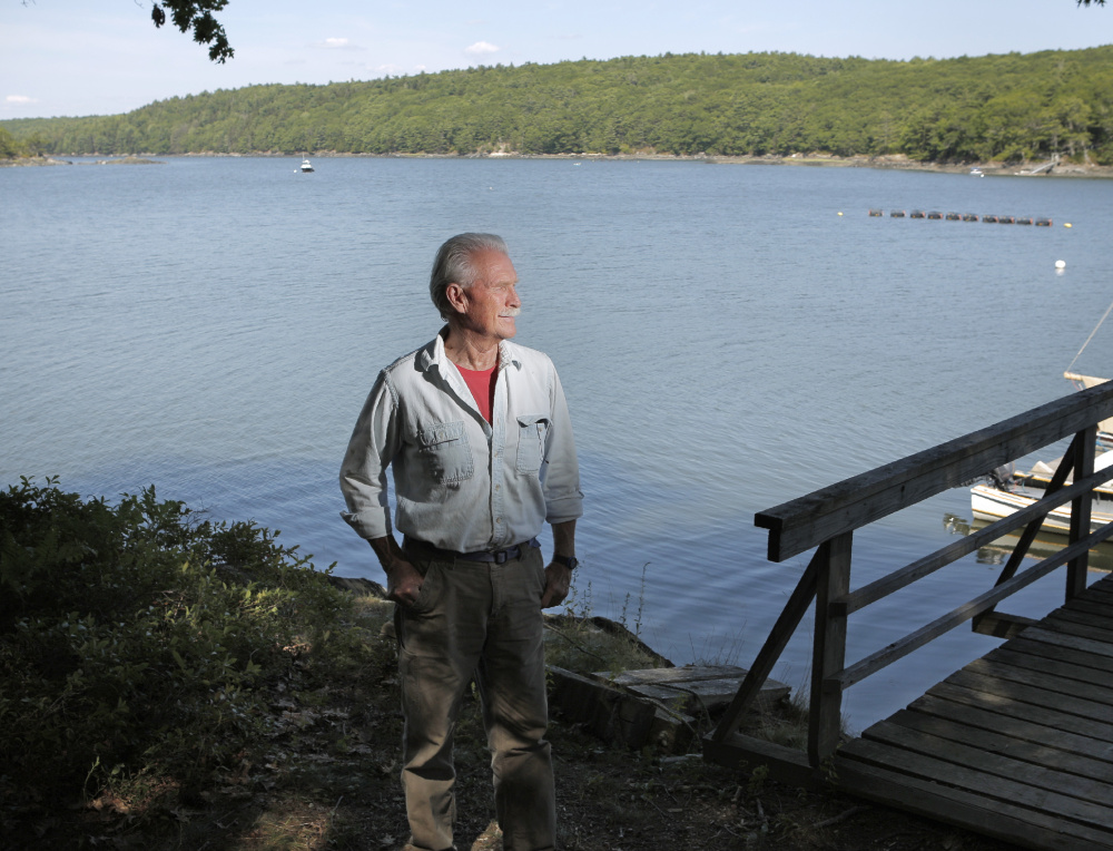 Pat Burns at Robinhood Cove in Georgetown, where five oyster farms are starting up thanks to a venture called Georgetown Aquaculture that Burns is overseeing.