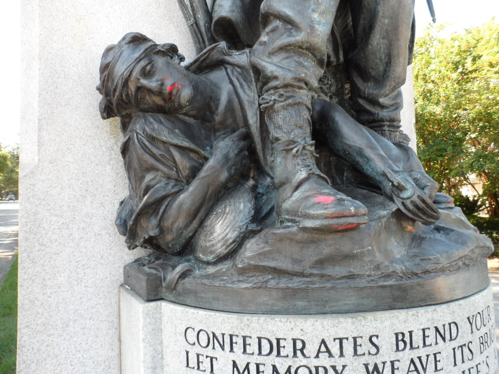 North Carolina Gov. Roy Cooper called Tuesday for the removal of Confederate monuments, like Wilmington's Confederal Memorial, above, that are on public property.