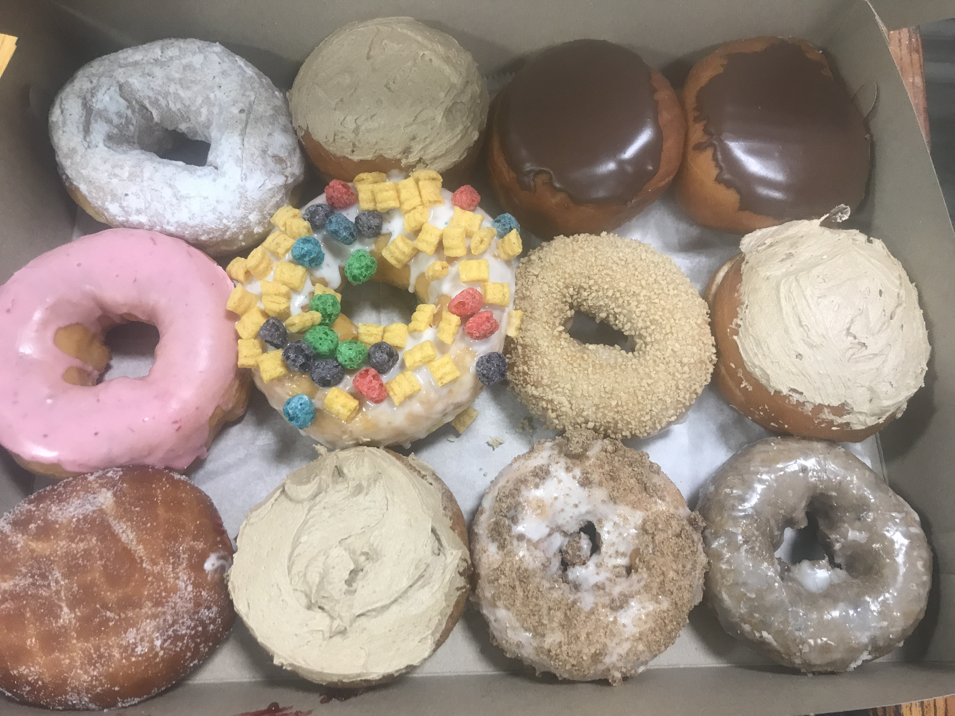 A sampling of the doughnuts owner Ben Dube makes at New England Bakery in south Sanford. COURTESY PHOTO/new England Bakery