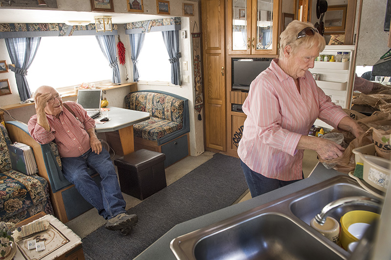 After a lifetime's work, Jeannie and Richard Dever, seen here in Ellsworth, have a small mobile home in Indiana, $5,000 in savings and a couple of modest insurance policies.