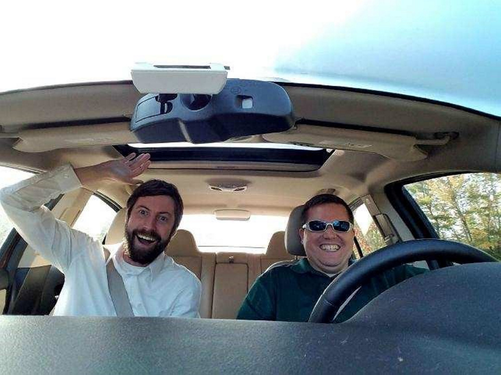 Ben Connors carpools with his colleague Jeff Allen 45 minutes to and from work each day.