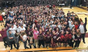 FREEPORT HIGH School held its spirit rally last Friday in order to support the Good Shepherd Food Bank. The effort, in conjunction with WGME 13, has collected hundreds of food items and raised more than $6,800, and is part of the 2017 School Spirit Challenge.