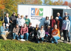 THE MERRYMEETING GLEANERS collected more than 700 pounds of produce at Six River Farm in Bowdoinham on Wednesday that was delivered to nine organizations including food pantries and Head Start programs. During the event they also christened a new refrigerated food trailer which will allow them to store produce where it can be accessed more conveniently by recipient organizations.