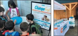 CHANGE DONATED FOR CHARITIES collected throughout Maine and New Hampshire will be counted at a Freeport event this month.